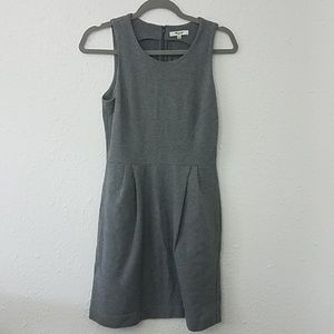 Madewell XS dress Sleeveless gray striped scoop